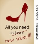 All You Need Is New Shoes Card...