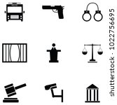 law icon set | Shutterstock .eps vector #1022756695