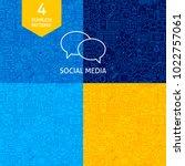line social media patterns.... | Shutterstock .eps vector #1022757061