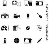 hobby icon set   Shutterstock .eps vector #1022759341