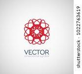 red circular ornament. vector... | Shutterstock .eps vector #1022763619