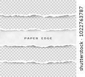 set of torn paper stripes.... | Shutterstock . vector #1022763787