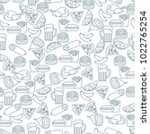 seamless pattern with different ... | Shutterstock .eps vector #1022765254