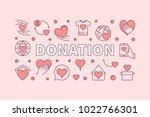 donation pink horizontal... | Shutterstock .eps vector #1022766301