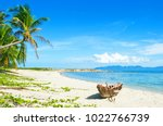 old fisherman boat with anchor...   Shutterstock . vector #1022766739