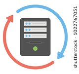 data synchronization concept... | Shutterstock .eps vector #1022767051