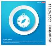 compass icon abstract blue web...