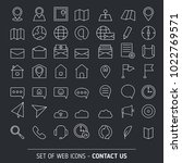contacts icon set. media and... | Shutterstock .eps vector #1022769571