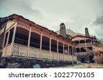 old village dartlo with... | Shutterstock . vector #1022770105