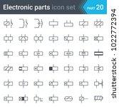 complete vector set of electric ... | Shutterstock .eps vector #1022772394