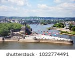 koblenz city germany historic... | Shutterstock . vector #1022774491