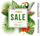 summer sale emblem wirh... | Shutterstock .eps vector #1022774521