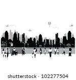 vector illustration.crowd of... | Shutterstock .eps vector #102277504