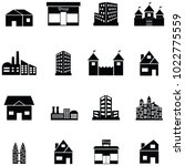 building icon set | Shutterstock .eps vector #1022775559