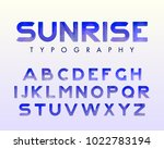 vector of stylish stylized font ... | Shutterstock .eps vector #1022783194