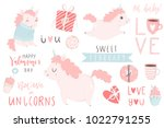 cute hand drawn illustrations... | Shutterstock .eps vector #1022791255