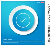 ok tick icon abstract blue web...