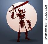 vector skeleton warrior