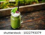 healthy eating. green fresh... | Shutterstock . vector #1022793379