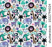 seamless pattern with... | Shutterstock .eps vector #1022794024