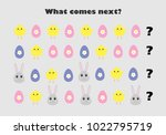 what comes next with easter... | Shutterstock .eps vector #1022795719