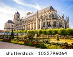 bourges cathedral  a roman... | Shutterstock . vector #1022796064