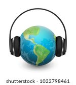 music planet earth with... | Shutterstock .eps vector #1022798461
