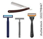 shaving razor mockup set.... | Shutterstock .eps vector #1022798467