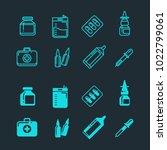 pills  drugs  pharmacy medicine ... | Shutterstock .eps vector #1022799061