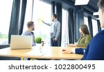 business leader showing the... | Shutterstock . vector #1022800495