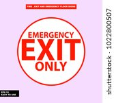 fire emergency  exit way ... | Shutterstock .eps vector #1022800507
