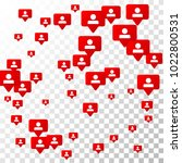 follow icon. notifications with ... | Shutterstock .eps vector #1022800531