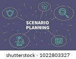 conceptual business...   Shutterstock . vector #1022803327