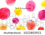 vector layout with nail polish... | Shutterstock .eps vector #1022803921