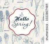 background for spring season...   Shutterstock .eps vector #1022807485