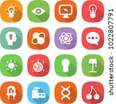 flat vector icon set   bulb... | Shutterstock .eps vector #1022807791