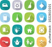 flat vector icon set   iron... | Shutterstock .eps vector #1022810101