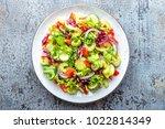 fresh vegetable salad of... | Shutterstock . vector #1022814349