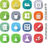 flat vector icon set   bin... | Shutterstock .eps vector #1022814979