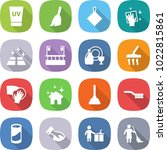 flat vector icon set   uv cream ... | Shutterstock .eps vector #1022815861