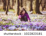 girl inspired by nature   Shutterstock . vector #1022823181
