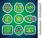 st patricks day glowing neon... | Shutterstock .eps vector #1022826619