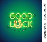 good luck glowing neon sign...