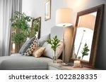 elegant room interior with...   Shutterstock . vector #1022828335