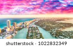 aerial view of miami beach... | Shutterstock . vector #1022832349