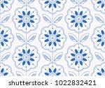 seamless floral pattern in... | Shutterstock .eps vector #1022832421