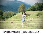 asian beautiful woman are a... | Shutterstock . vector #1022833615