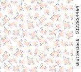 seamless floral pattern....   Shutterstock .eps vector #1022834464