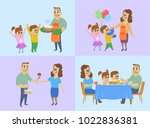 march 8  international women's... | Shutterstock .eps vector #1022836381