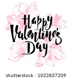 happy valentines day vintage... | Shutterstock .eps vector #1022837209